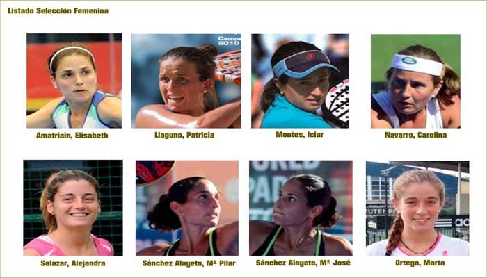 Selección Femenina Mundial de Pádel  2014